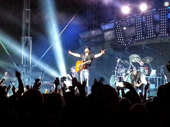 Eric Church concert shot from Guthrie's River Ruckus Show