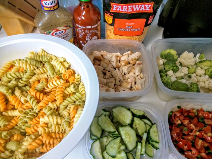 Personalized Pasta Salad Ingredients