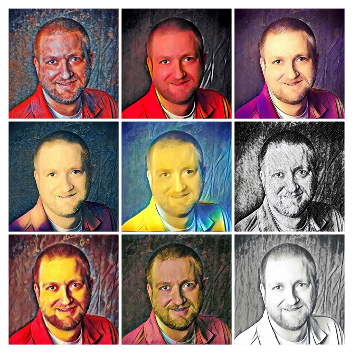 Prisma App Portrait Collage 2