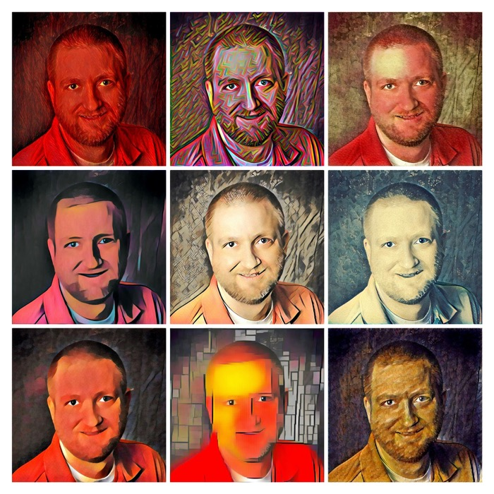 Prisma App Portrait Collage 3