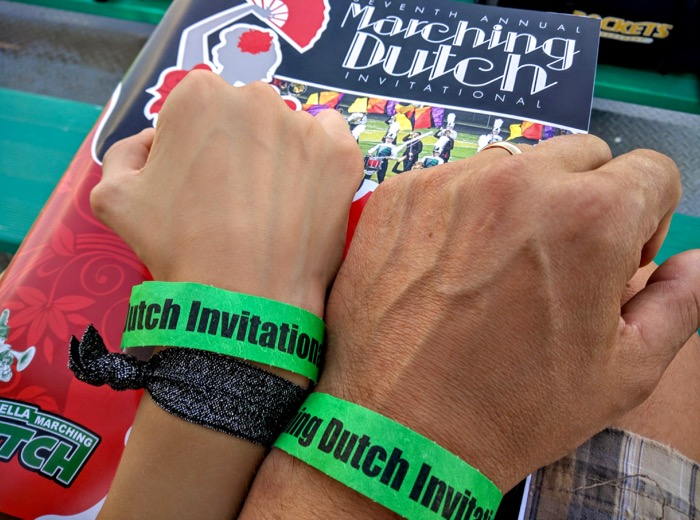 marching-band-wrist-bands-and-program